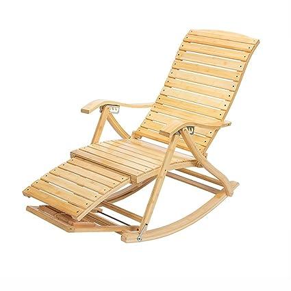 Mecedoras WSSF Jardín al Aire Libre Bambú Reclinable ...