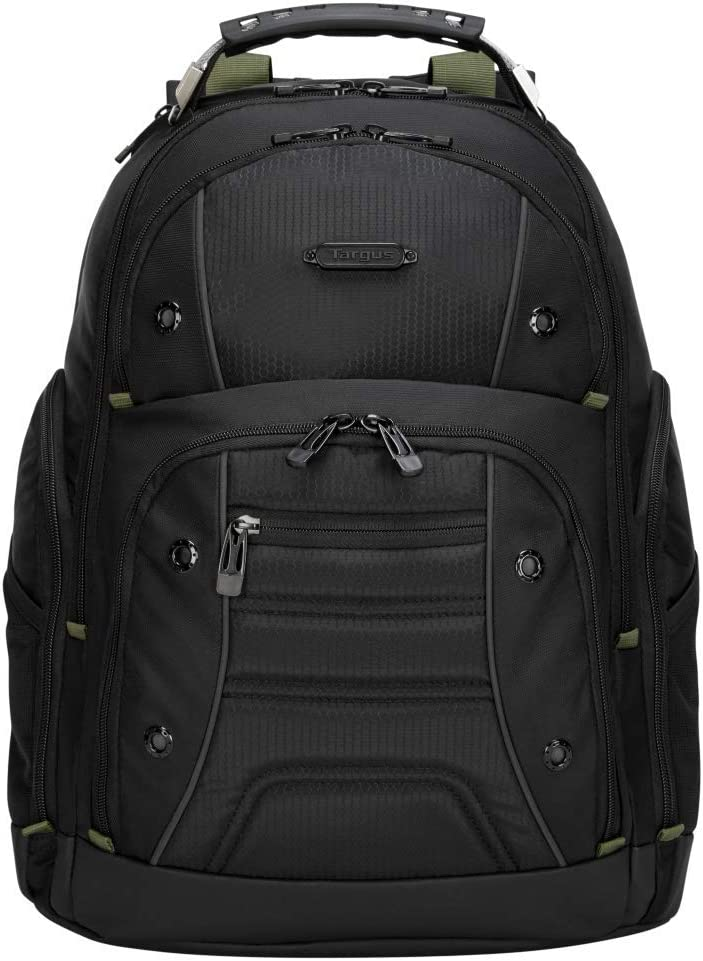 Targus Drifter II Backpack Design for Business Professional Commuter with Large Compartments, Durable Water Resistant, Hidden Zip Pocket, Protective Sleeve fits 17-Inch Laptop, Black (TBB23901GL)