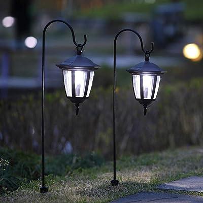 Maggift 34 Inch Hanging Solar Lights Dual Use Shepherd Hook Lights