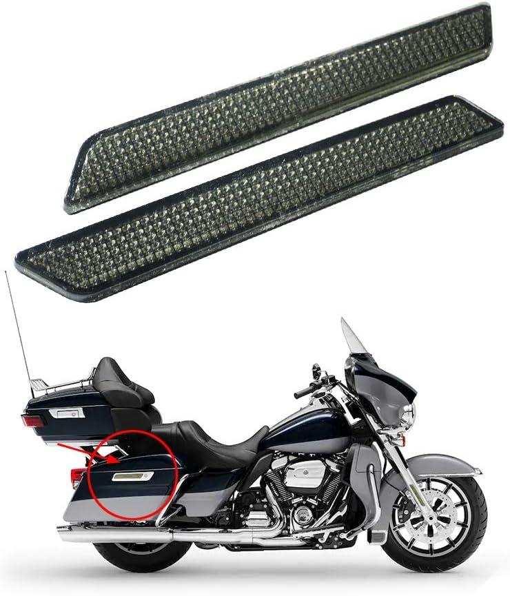 Rebacker Motorrad Satteltaschen Verriegelungsschutz Reflektor Für Harley Touring Street Glide Latch Covers 14 17 Rot Schwarz Th015801 Auto