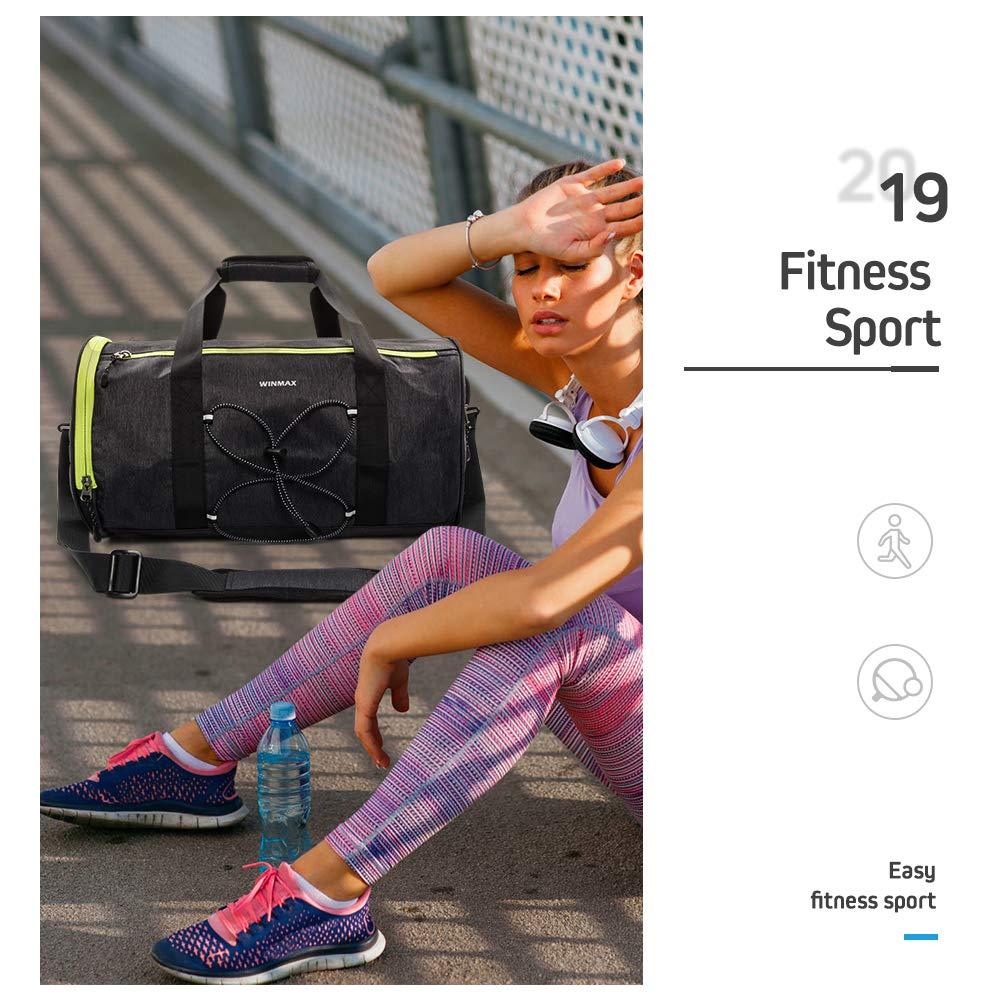 winmax Sac de Sport Homme avec Compartiment Chaussures 28L Sac Gym Fitness Sac Voyage Impermeable Sacs Bandouli/ère Gym Sport Duffel Bag Grande Capacit/é Portable Sac /à Main pour Femmes et Hommes