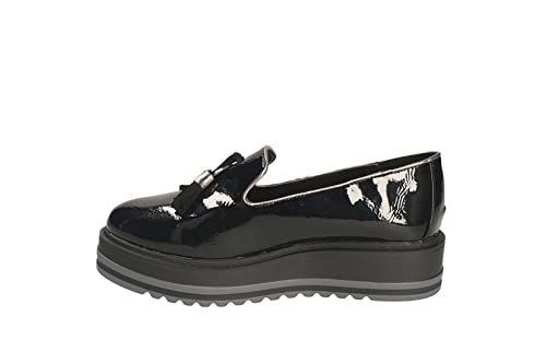 XTI Mocasines de Piel Sintética Para Mujer Negro Nero Lucida Negro Size: 39: Amazon.es: Zapatos y complementos