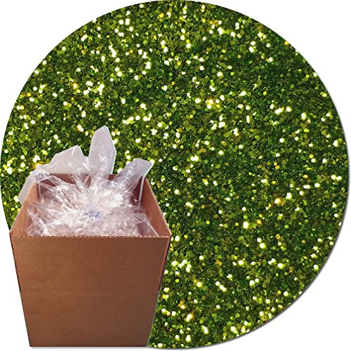 Glitter My World! Craft Glitter: 25lb Box: Lime Luster by Glitter My World!