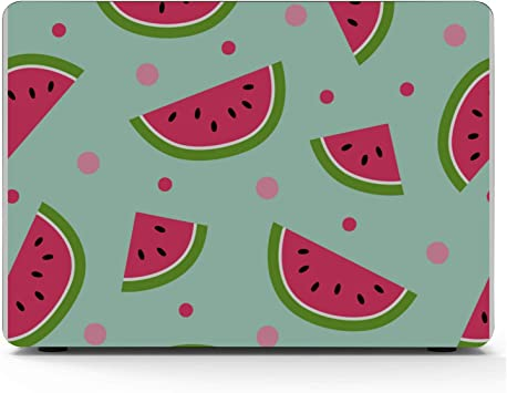 Laptop Hard Cases Summer Vintage Cute Fruit Watermelon Plastic Hard Shell Compatible Mac Air 11 Pro 13 15 MacBook Covers Protection for MacBook 2016-2019 Version