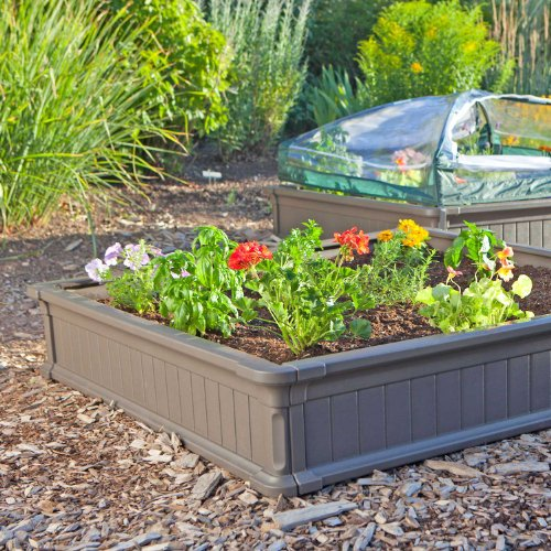 081483009032 - Lifetime 60053 Raised Garde Bed Kit, 2 Beds and 1 Early Start Vinyl Enclosure carousel main 3