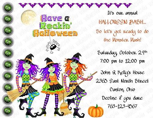 Personalized Halloween Invitation (halloween132) (sold in packs of (Personalized Halloween Invitations)