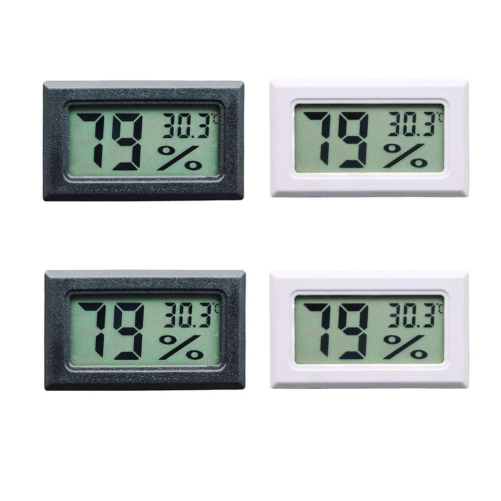 4 PCS 50~70 ℃ 10/% ~ 99/% RH Thlevel Mini Digital LCD Thermom/ètre Hygrom/ètre Temp/érature Humidit/é