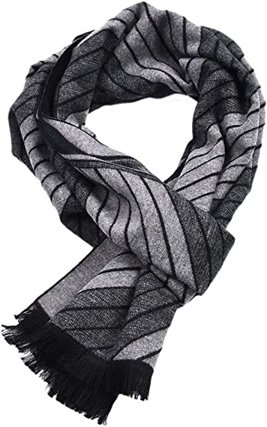 Dylandy Mens Scarf Bib Neck Wrap Mens Winter Warm Cotton Shawl Bib Scarf Christmas Gift