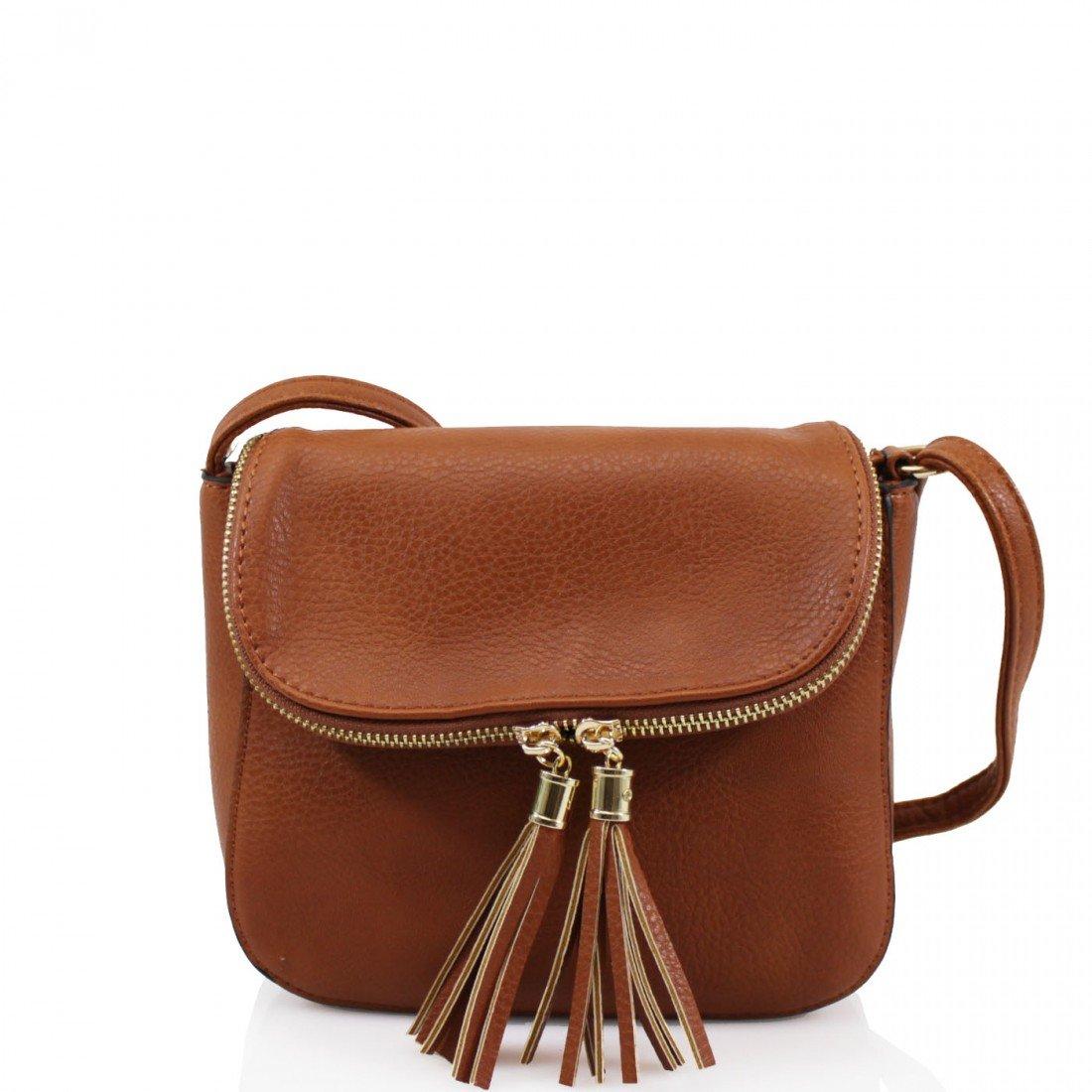 WKDS 2027 Ladies Tassel Adorned Small Cross Body Bags Women Girls Shoulder  Side Casual Bags (Beige): Amazon.co.uk: Shoes & Bags