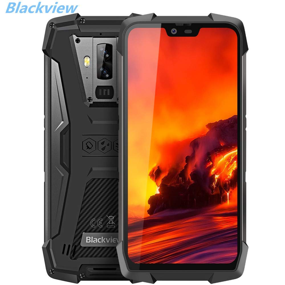 Blackview BV9700 PRO,Android 9.0 4G Smartphone 5.84'' 19:9 FHD+ Display,Helio P70 6GB+128GB,4380mAh Battery,IP68/IP69K Waterproof/Dustproof,Dual Camera,NFC,Face ID (9700pro) by Blackview