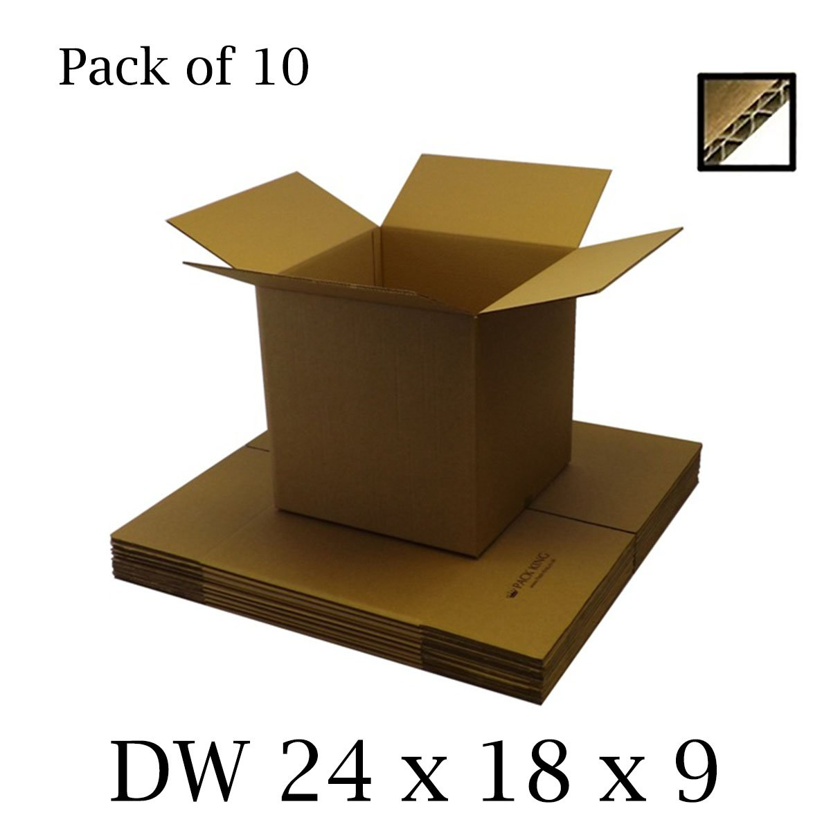 10 x Double Wall Brown Cardboard Boxes Packaging Postal, Mailing & Storage Strong Containers Flat Packed Corrugated Cartons House Moving / Removals – All Sizes Available (12