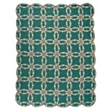 Patch Magic King Green Double Wedding Ring Quilt, 105-Inch by 95-Inch
