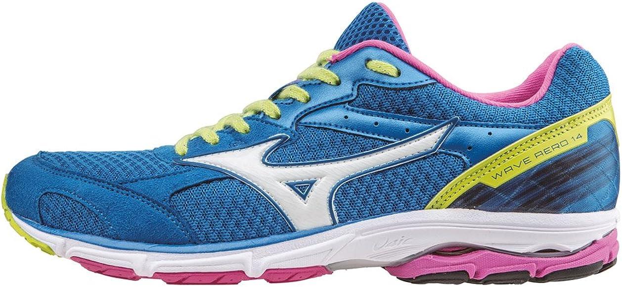 Mizunowave Aero Wos - Zapatillas de Running Mujer, Azul (Bleu (DirectoireBleue/Blanc/Electric)), 36 1/2: Amazon.es: Zapatos y complementos