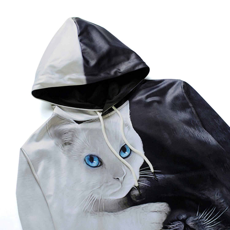 Cartoon Blend Hoodies 3D Printed Cat Oversize Mens Womens Sweatshirt Pullover Long Sleeve Hooded Sweatshirts Tops Sudaderas at Amazon Womens Clothing ...