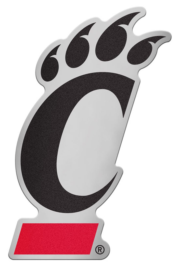 Hard Thin Plastic University of Cincinnati Bearcats Auto Badge Decal 4.25x2.5 inches