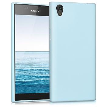 kwmobile Funda compatible con Sony Xperia L1 - Carcasa de [TPU silicona] - Protector [trasero] en [azul claro mate]