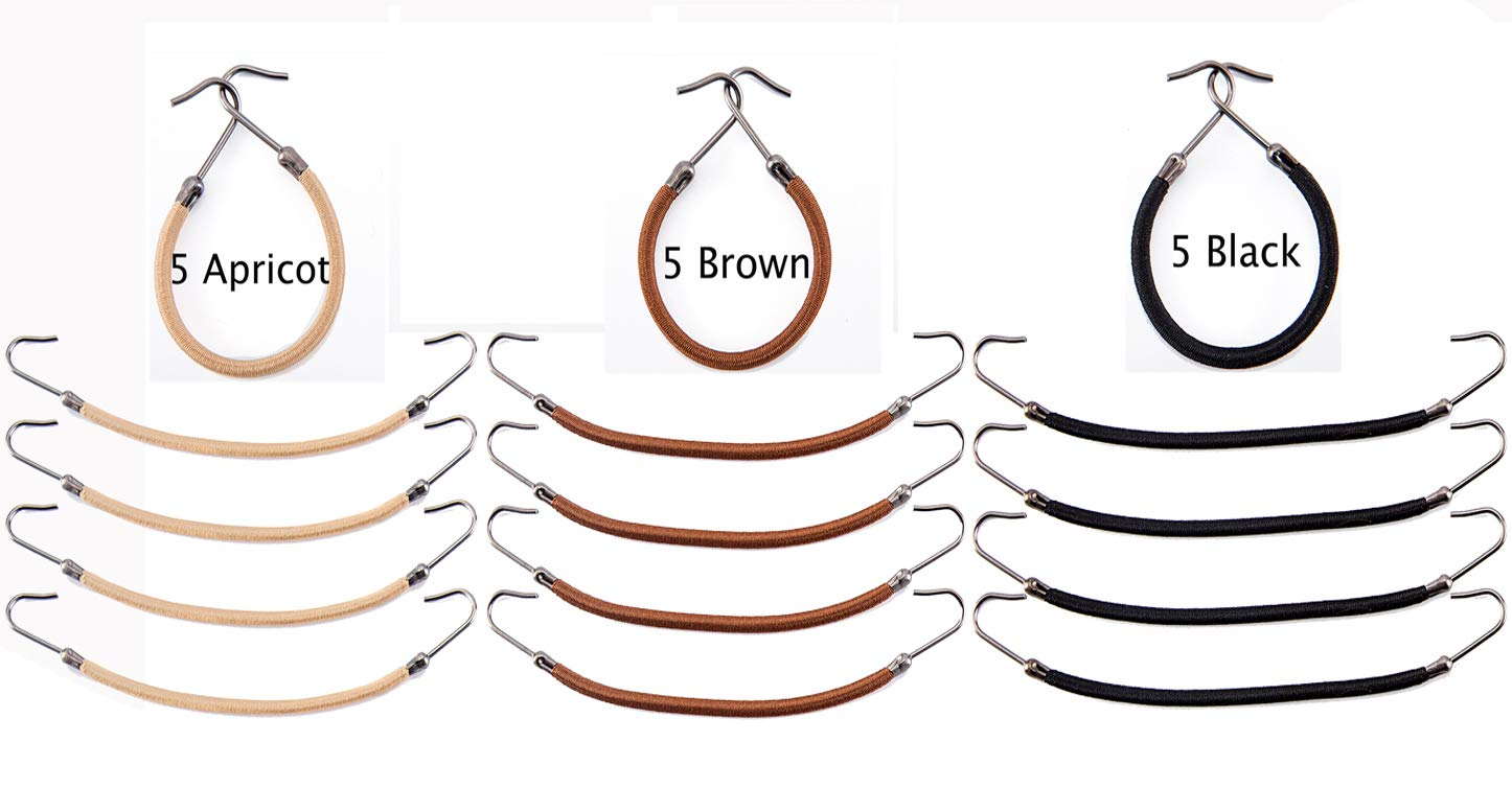 Mini Skater 15 Pcs Ponytail Hooks Small Bungee Rubber Bands Hair Pins Elastic Styling Comfortable Hair Accessories for Thick Hair Girls
