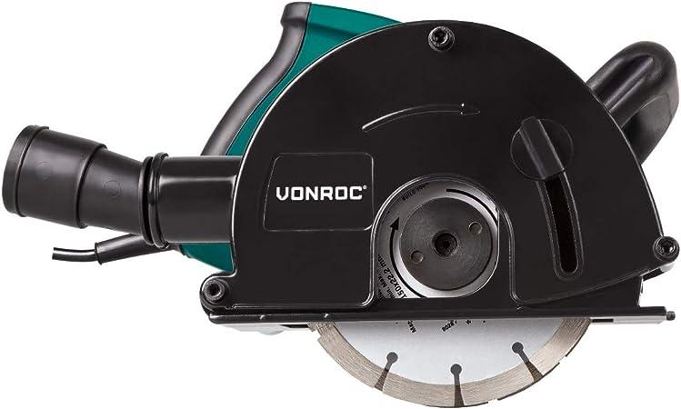 Rozadora de pared VONROC | Fresadora de 1700W - 150mm con discos ...