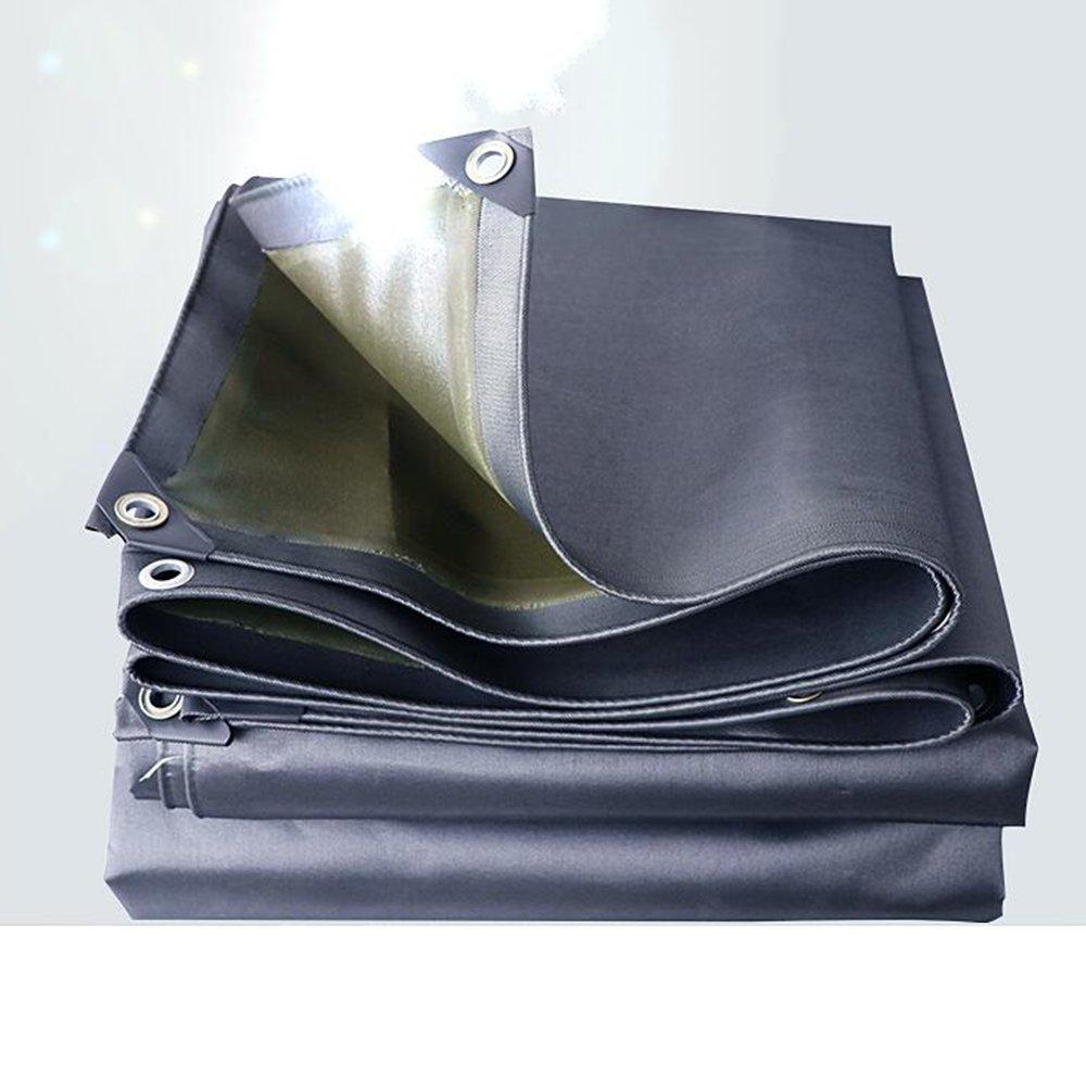 YNN ヘビーデューティターポリン、高密度編みポリエチレン0.7MM -530 g/m²、青色 - 100%防水、UV保護 防水シート (色 : Gray, サイズ さいず : 5x 6m) B07FNP7M14 5x 6m|Gray Gray 5x 6m