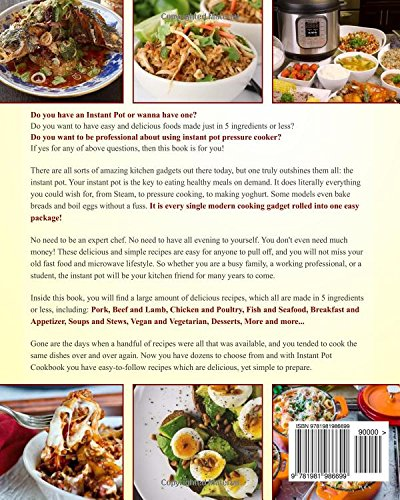 Instant pot cookbook the 5 ingredients or less instant pot cookbook instant pot cookbook the 5 ingredients or less instant pot cookbook 110 simple and delicious pressure cooker recipes for your instant pot cooking at forumfinder Choice Image