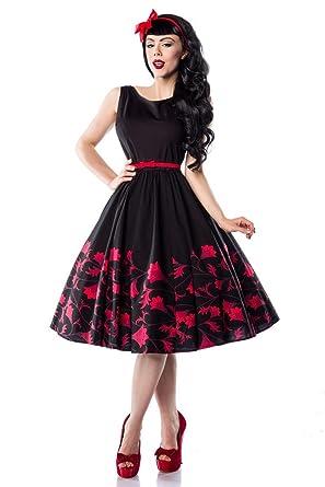 6914dc200784 50er Jahre Rockabilly Kleid mit mit schönem Blumenmuster A13847-1