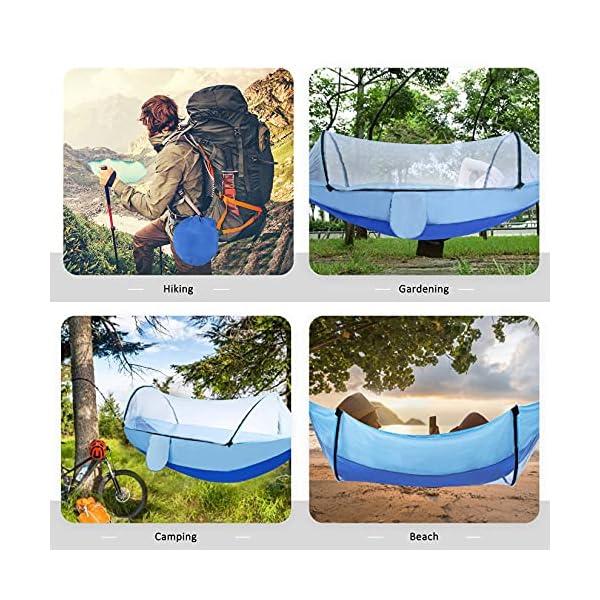Camping Hängematte mit Moskitonetz, Hängematten mit Baum-Riemen Karabiner, Outdoor Tragbare Hängematte Männer Frauen…
