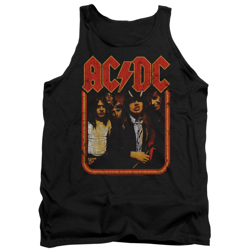 Mens Group Distressed Tank Top ACDC