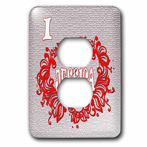 3dRose RinaPiro - Love Quotes - I Love Jessica. Love is forever. - Light Switch Covers - 2 plug outlet cover (Jessica Wall Clock)