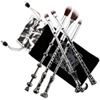 Makeup Brush,potter Magic Wand Brush Gift Set 5 Pieces Nice Hair Bristle Fancy Look, Silver Black Ithyes
