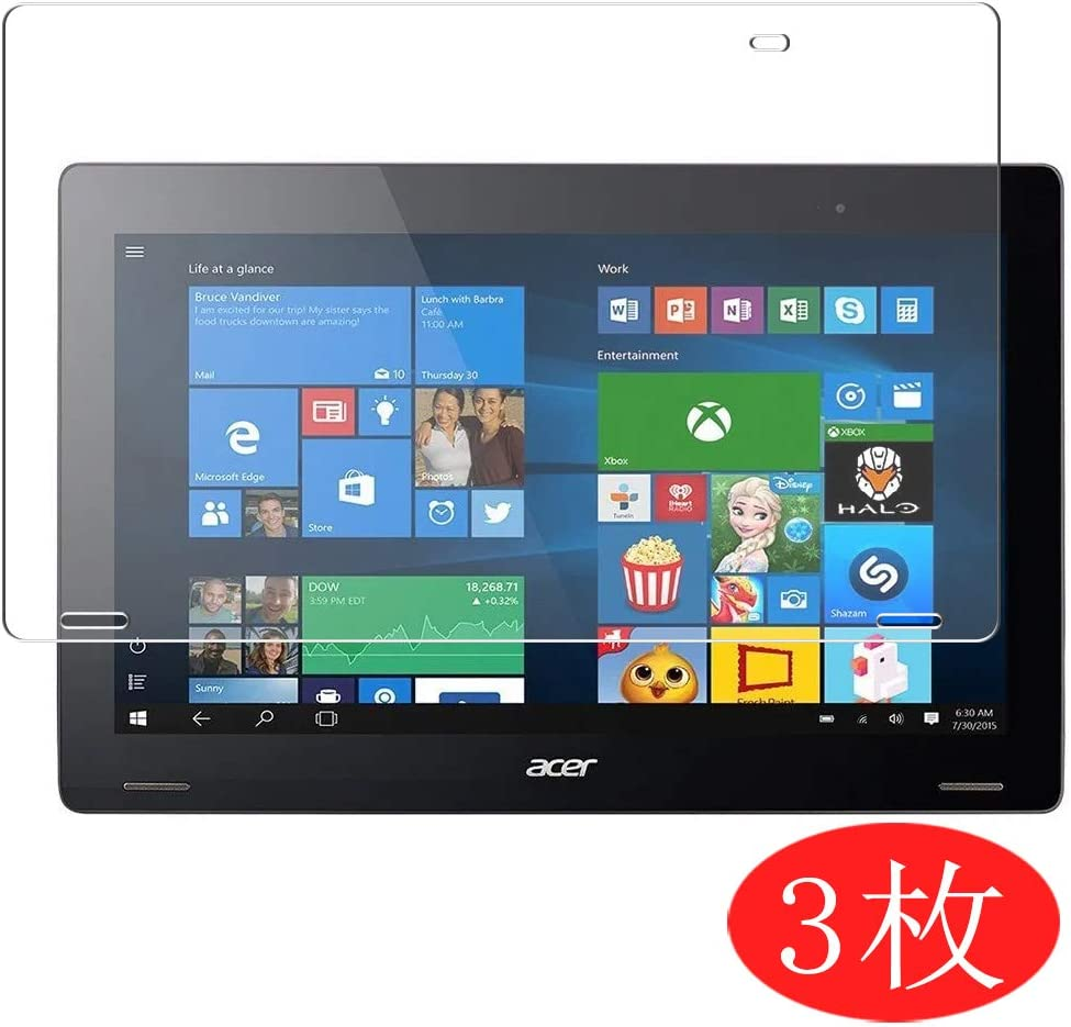 """【3 Pack】 Synvy Screen Protector for Acer Aspire Switch 12 SW7-272 / SW7-272P 12.5"""" TPU Flexible HD Film Protective Protectors [Not Tempered Glass]"""