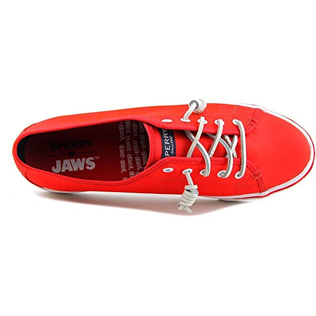Sperry Top-Sider Women's Seacoast Logo Sneaker, Red Canvas