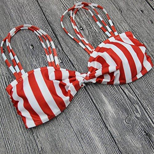 Bagno Rosa Da Costumi Stampa 2 Swimwear Pezzi Push Costumi Bikini OHQ Righe Brasiliano Bikini Bagno Da Da Con A Donna Costume Bikini Magro Bagno Donna Da Da Up pCwAq