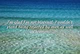Home Comforts Bernard Manning - Famous Quotes Laminated POSTER PRINT 17x11 - I'm glad I'm not bisexual. I couldn't stand being rejected by men as well as women.