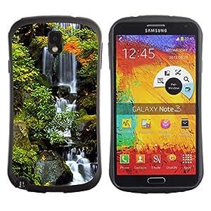 Pulsar iFace Series Tpu silicona Carcasa Funda Case para SAMSUNG Galaxy Note 3 III / N9000 / N9005 , Nature Beautiful Forrest Green 38