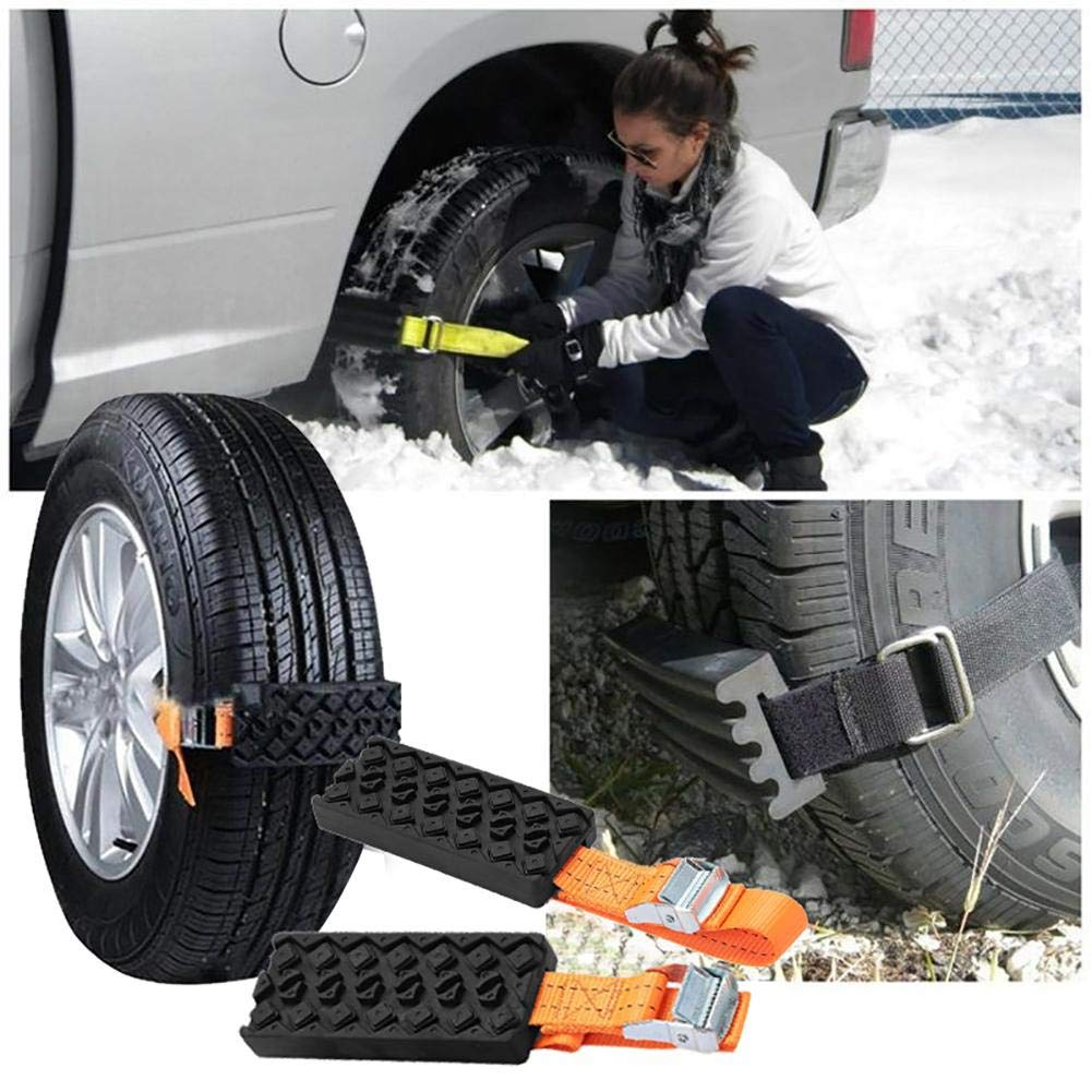 Sand Road Mud Road RubberCar Snow Chains Universal Emergency Non-Slip Tire Chain for Car Truck SUV in Winter Driving Snow Road FancyU Snow Chains for Wheels