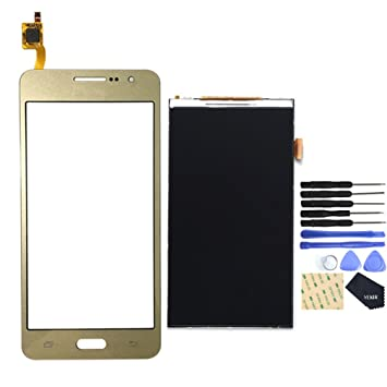 6c0b0e988c0 VEKIR Pantalla LCD + Touch Digitizer Replacement Set para Samsung Galaxy  Grand Prime G530 (Dorado): Amazon.es: Electrónica