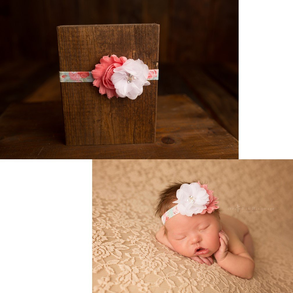 Amazon com couture coral rose headband photography prop newborn toddler child adult toddler baby