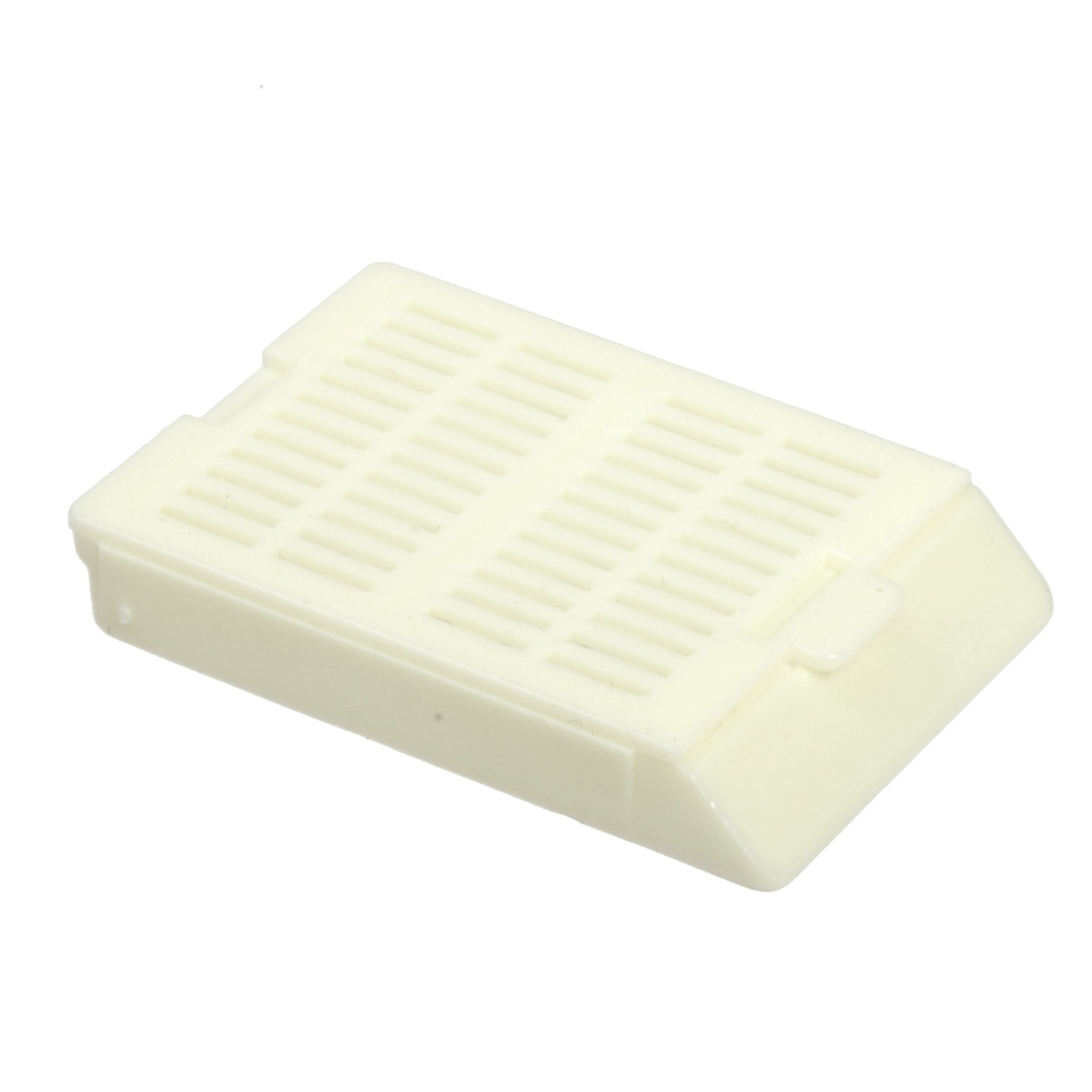 Bio Plas 6050 White Acetyl Plastic Histo Plas Uni-Capsette Tissue Embedding Cassettes with Detachable Lid (Pack of 500)