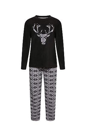 O.N.E Pijama de Forro Polar para niños, Cuello Redondo, Cara de Ciervo, Ropa de salón Heritage PJs 5 - 13: Amazon.es: Ropa y accesorios