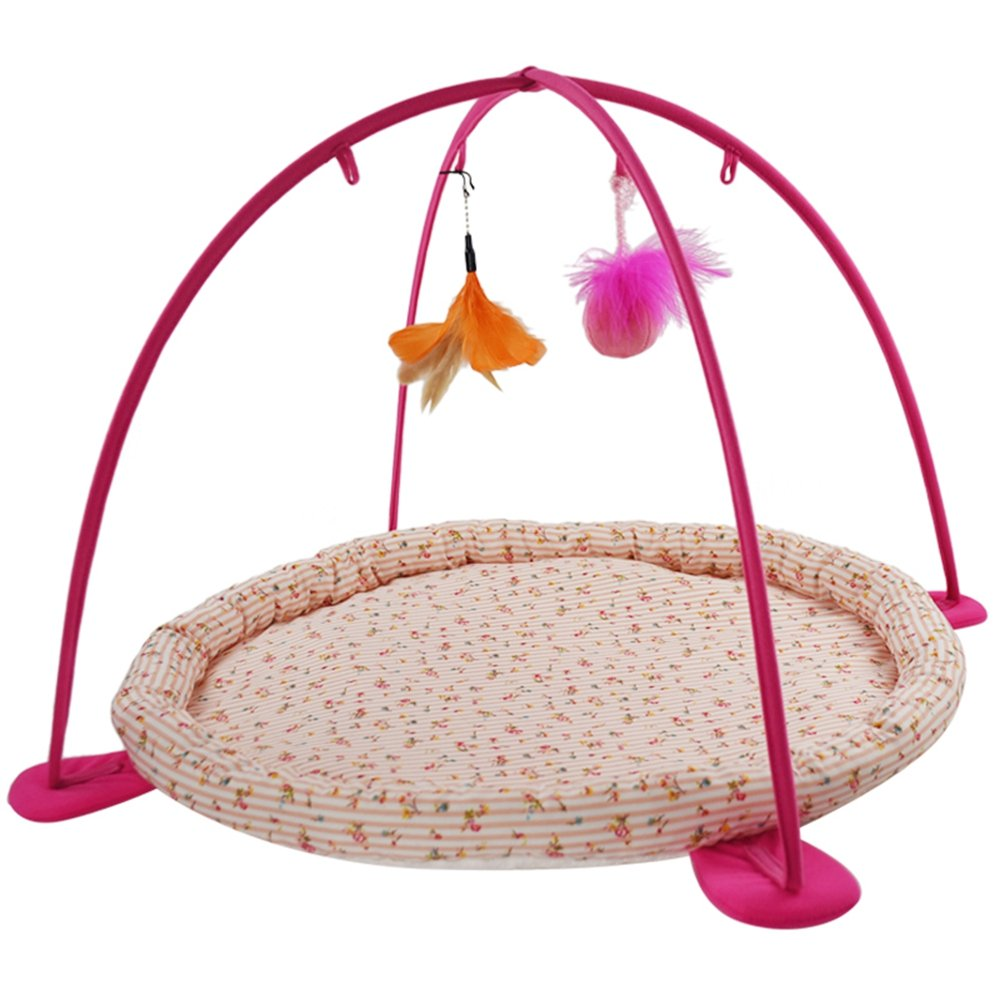 West Coast Cat Hammock Cat Tent Sleeping Mat for Cats, Multi-Function Collapsible Hanging Cat Feather Toy Cat Play Amusement Park by West Coast (Image #1)