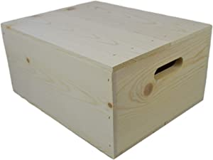 Wooden Box with Hand Holes and a Drop on Lid (Qty.9)