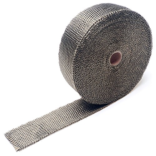 Exhaust Header Heat Wrap - APE Racing Basalt Lava Twill Weave Muffler Pipe Shield Tape Roll 2