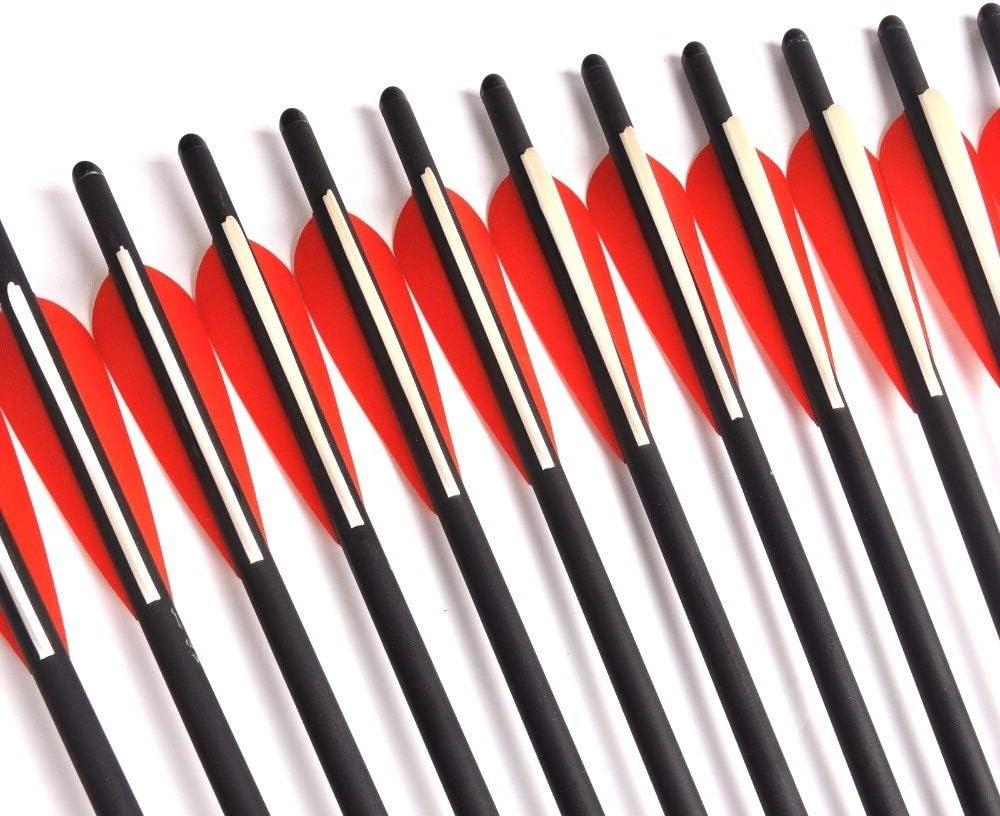 12//24//36 St/ück Mix Carbon-Armbrust Pfeil 17//20 Zoll Durchmesser 8,8 mm mit M/öndchen Nock for Bogenschie/ßen Jagd Schie/ßen Farbe : 12 pcs 17 Inch Black XFC-Pfeil