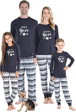 Sleepyheads Holiday Family Matching Pajama PJ Sets, Bear, Deer, Snowflakes