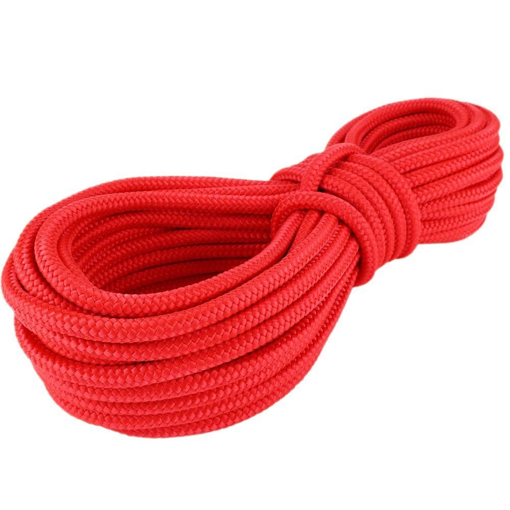 PP Seil Polypropylenseil SH 14mm 50m Farbe Rot (0114) Geflochten