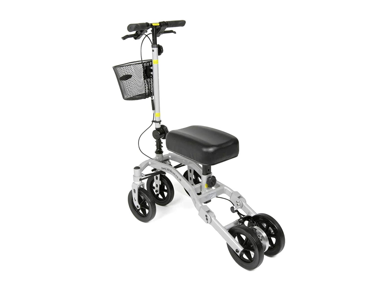 StrideOn Knee Walker alternativa a las muletas con canasta y ...
