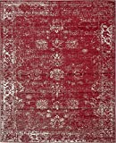 Burgundy 8' x 10' FT Canterbury Rug Modern Traditional Vintage Inspired Overdyed Area Rugs