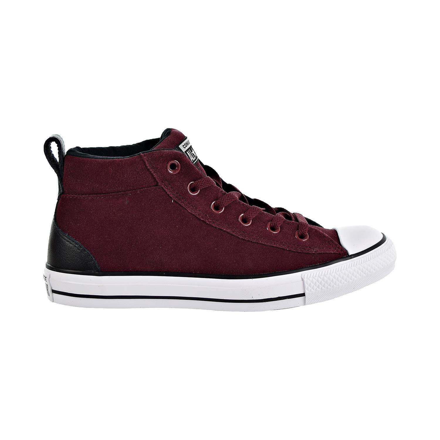 18219eb6640 Galleon - Converse Chuck Taylor All Star Street Suede MID Sneaker Dark  Burgundy Black White 7.5 M US
