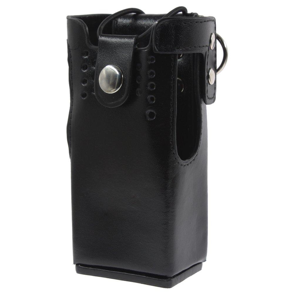 KENMAX Leather Case Holder for Walkie Talkie Two Way CB Ham Radio Motorola HT1250 HT1550 GP320 GP340 GP360