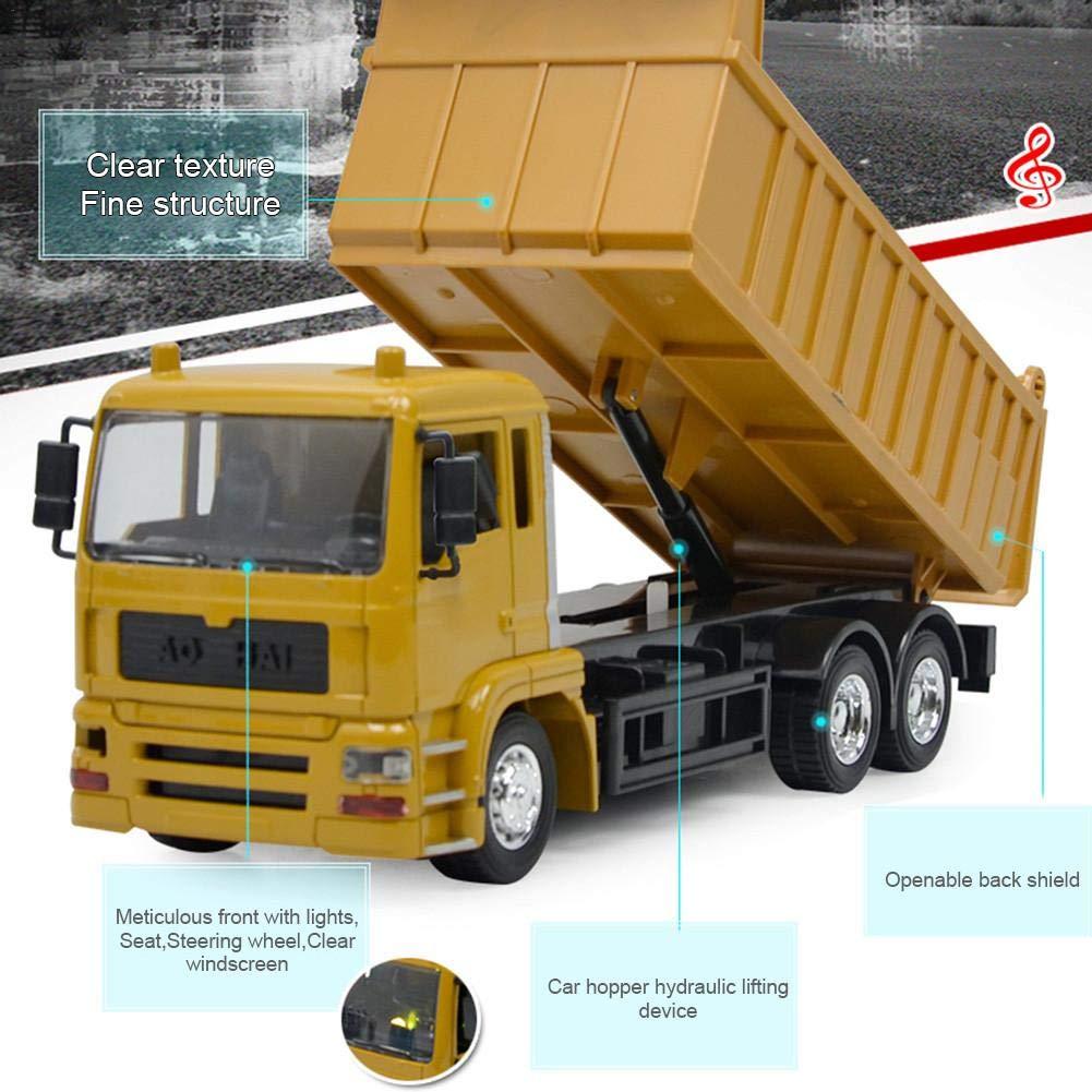 Minimew RC 8 canali di Costruzione Camion Caricatore Escavatore Dumper Veicolo telecomandato 2.4G con Musica Leggera Batteria Ricaricabile trattori Giocattolo per Bambini